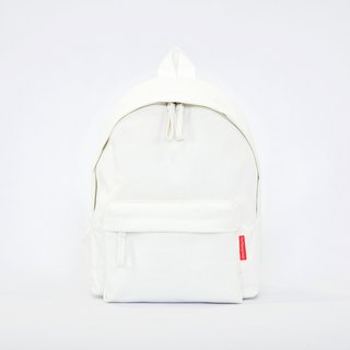 Waterproof Heavy Canvas Backpack ( Mini, A4 ) / White / for both adults and kids