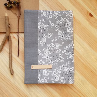 A5/25K adjustable cloth book cover gray small floral