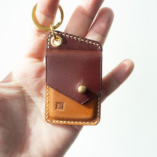 Genuine Leather Personalised tiny keychain pouch