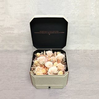Everlasting Rose Flower Gift Box Champagne Powder