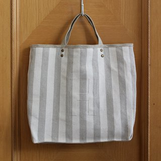 Exclusive order Linen AlphaBAG between the strips of linen and coarse hemp cloth bag letter H