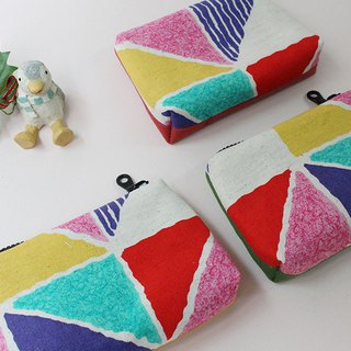 Colorful Christmas / purse / pouch / storage bag / Christmas