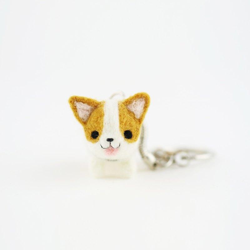 [出門遛遛系列] 狗狗鑰匙圈-柯基