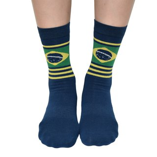 2018 FIFA world cup - Flag Collection Men/Women Brazil Crew Socks