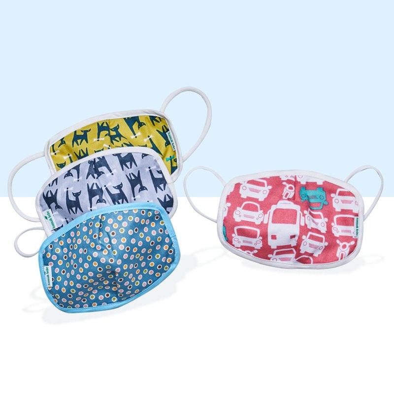 【買3+送1】韓國製 hannahbebe 兒童有機純棉布口罩