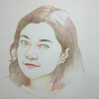 Custom color pencil portrait (with box)