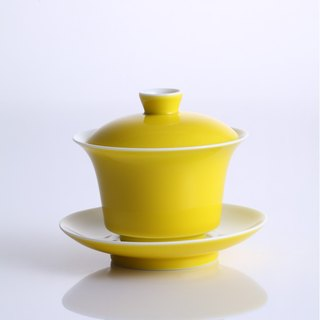 [Lightly tasteful] Emperor yellow cover cup ● tea utensils