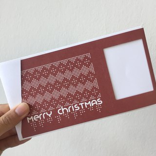 Pin Cards - Knitting Christmas Cards / Gift Cards Designed for Polaroid
