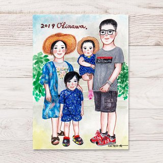 A5 Warm memories: Portraits like illustrations (hand drawn)