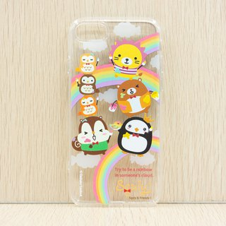 iPhone 8/7 TPU Back Case - Squly & Friends Rainbow Theme