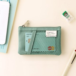 Livework Leisure Double Double Folding Ticket Card Coin Purse V2-Mint Green, LWK56238