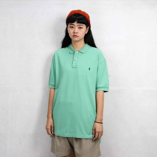 Tsubasa.Y Ancient House 005 Cream Green Ralph Lauren POLO Shirt, Vintage Vintage