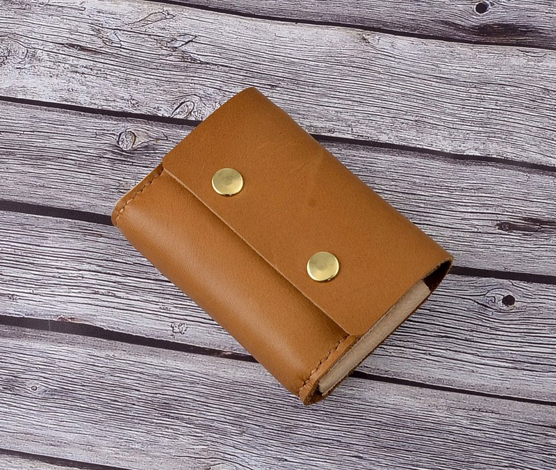 U6.JP6 handmade leather goods - hand-stitched imported leather - simple wallet (for men and women)