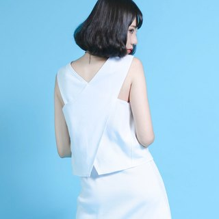 SU: MI said Compound compound rib shape white vest _6SF013_