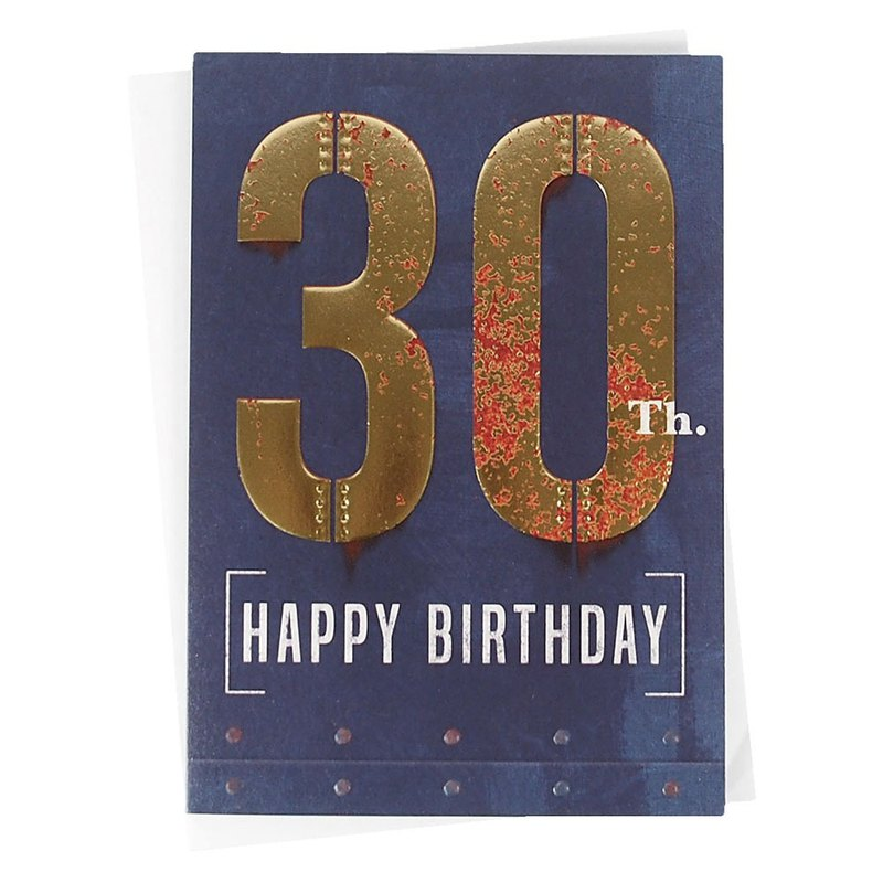 I Wish You Have The Best 30 Years Old ABACUS Rusty Birthday Card