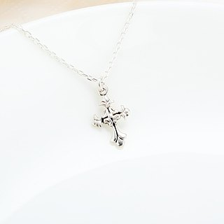 Iris Gothic Cross s925 sterling silver necklace Birthday Valentine's Day gift
