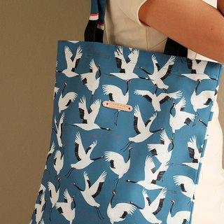 Tote bag :  RED CROWNED CRANE