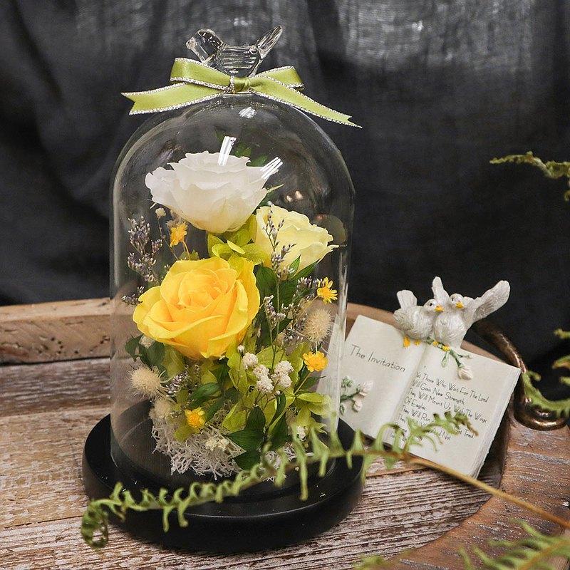 【一人成團】不凋花 永生玫瑰花玻璃罩盅 手作課程 台中 客製禮物