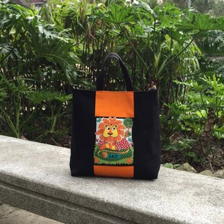 Horoscope-Leo tote bag/shoulder bag/cross-body bag/handbag handmade simple canvas