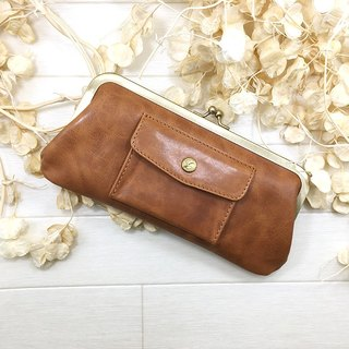 168 BE long wallet pocket cowhide large Long wallet / pouch / pocket / cow leather / big / unisex / cool / fashionable / popular wrapping / packaging / bag / leather / large / neutral / cold / old / fashionable