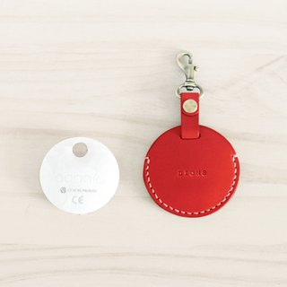 LION's Handmade Leather – gogoro Key Ring Key Leather Can (Dull Red)