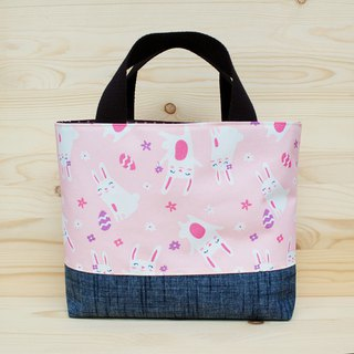 Nylon waterproof tote bag _ cute bunny
