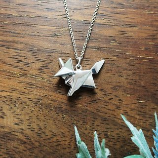 GT Origami Fox Sterling Silver Necklace