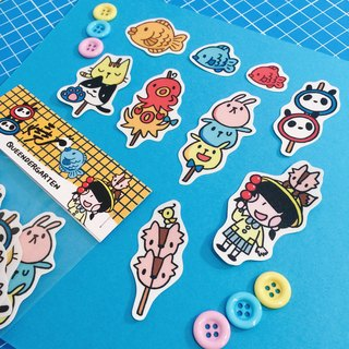 Animal skewers 🍡 / matte stickers
