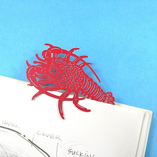 MARK TAIWAN Mai Mai Zoo - Corrugated Lobster (Paper Bookmark)