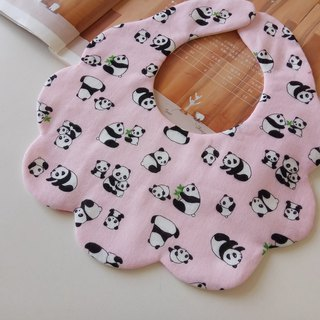 Japanese cotton gauze powder foundation pink cotton bib baby bib six-layer eight-layer yarn