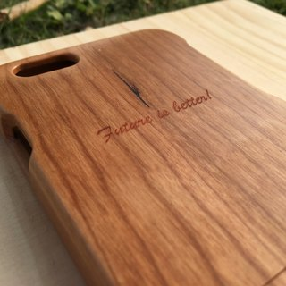 【TAB】 Wood texture mobile phone case (text custom series) / Custom / Wen Chong / solid wood / wood / wood / hand made / laser engraving / iPhone phone shell / wedding small objects