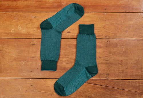 Fruit good bird eye pattern gentleman socks lake green