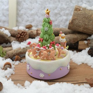 Gingerbread Christmas tree music bell decorations Christmas gifts exchange gifts