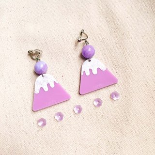 Purple Purple Mount Fuji / Earrings