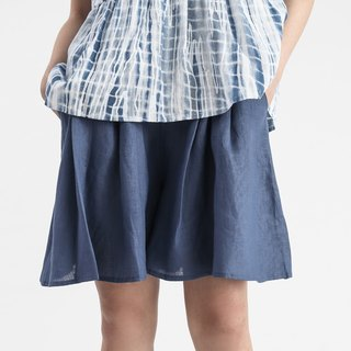 【In Stock】Blue linen skorts