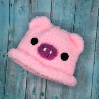 Piglet-wool knit baby wool hat Miyue ceremony birthday gift Christmas gift