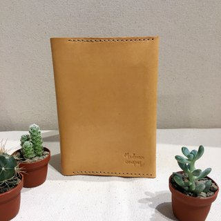 Handmade leather tanned leather Passport Case B Gift Customized