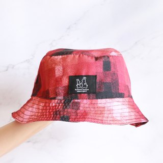 Red plaid fisherman hat
