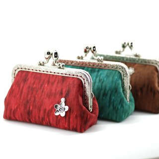 CaCa Crafts | small purse mouth gold package · lady · [red]