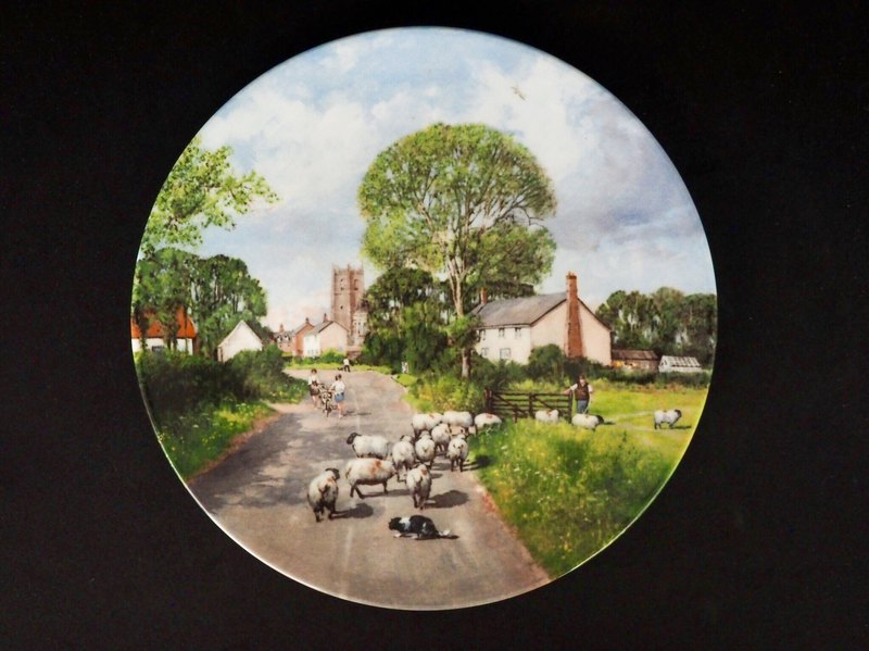 British porcelain Royal Doulton limited country style decorative plate B
