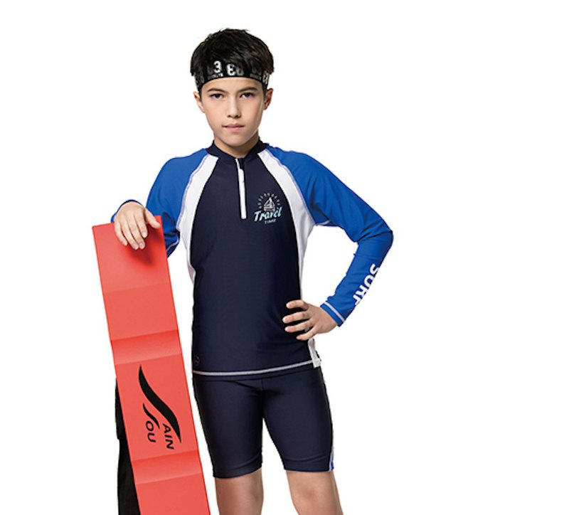 MIT children's two-piece sunscreen swimwear for boys and girls