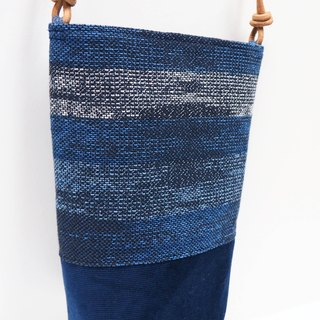 Handwoven Bucket Bag in Blue