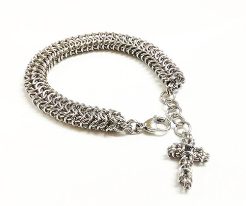 【JTBREW】 Chainmaille Roundmaille Stainless Steel Bracelet - Men's