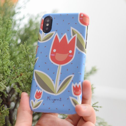 The Tulips iphone case สำหรับ iphone5s, 6s, 6s plus, 7, 7+, 8, 8+, iphone x