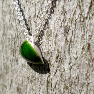 ▓░ silver / Ying / ring / Chieh / ▓░ <Succulents> 999 sterling silver enamel pendant / necklace