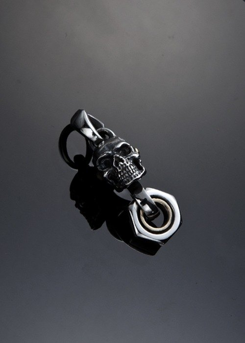 Let's Ride collection | Movable Piston skull necklace (S) | movable piston whole skull necklace (S)
