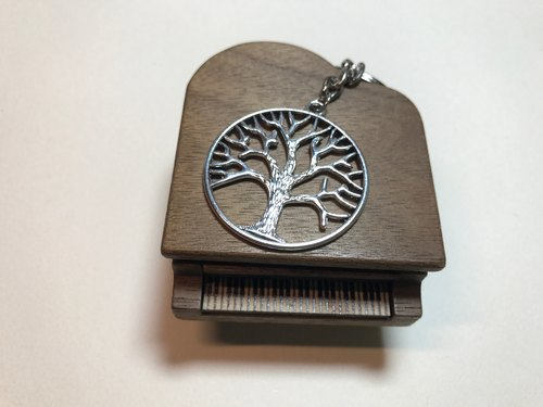 Lakshmi Lakshmi - Silver Amulet Tree of Life Keychain Charm Couples Jewelry -