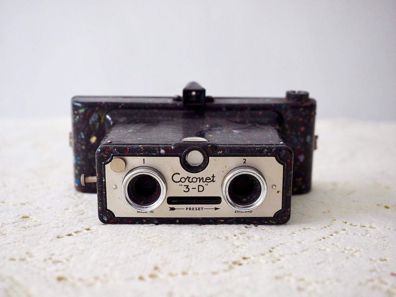 British Coronet #D Antique Binocular Camera