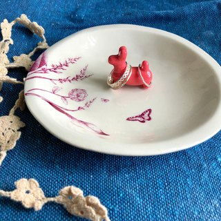 Balloon dog ,Handmake Ceramic Jewellery insert tray
