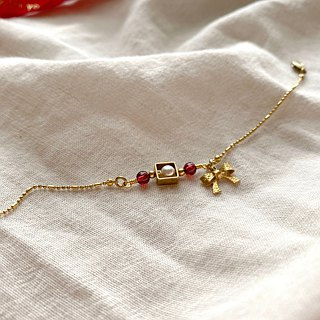 Little ribbon-Brass handmade bracelet